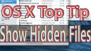Show Hidden Files Mac OS Xmenu App