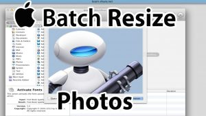 Batch Resize Photos on Mac OS  (Automator)