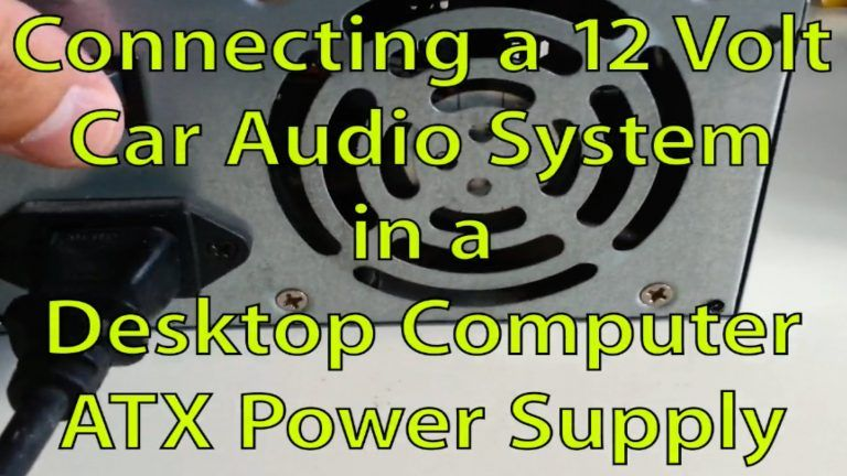 Connect Car Stereo Computer Power Supply