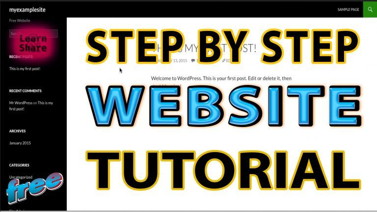 How to Make Free Website Video Tutorial