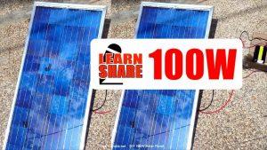 How to Make Homemade 100W Solar Panel