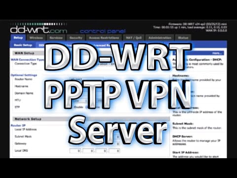 DD-WRT PPTP VPN Server Setup