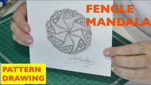 How to Draw Fengle Tangle pattern in mandala