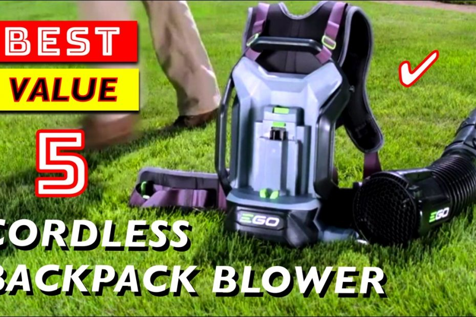 5 Best Value Cordless Backpack Leaf Blowers