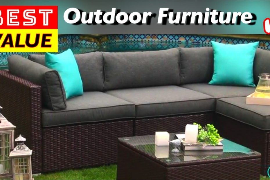 Best Value Outdoor Patio Furniture Set by COSIEST